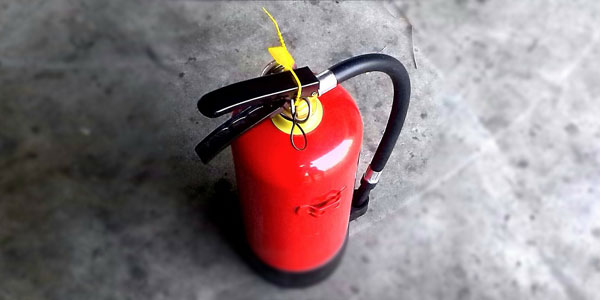 A fire extinguisher.
